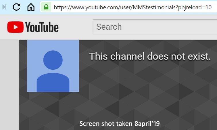 MMS YouTube Testimonials Channels Shut Down - MMSFORUM - MMS Forum